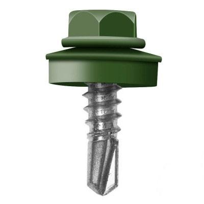 Саморез кровельный RAL-6002 Зеленый лист